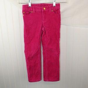 Ralph Lauren Girls Pink Corduroy Pants, size 4